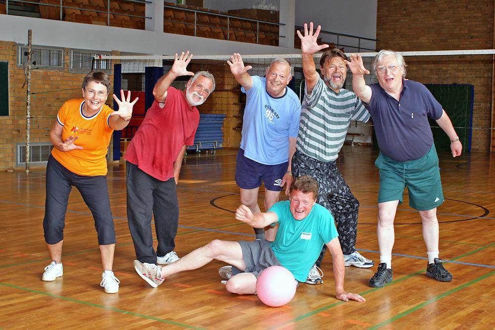 Herz-Kreislauftraining mit Faustball